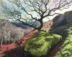 'Secret Path', Debbie Baxter, Acrylic on board, 110 x 100 cm