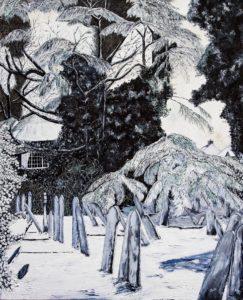 'The Guardian Song', Deborah Jesse, Oil on linen, 150 x 120 cm