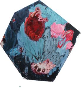 'Untitled', Diana Savostaite, Oil on linen, 88 x 88 cm