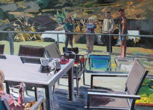 'Family II', Emma Copley, Oil on wood panel, 79 x 101 cm