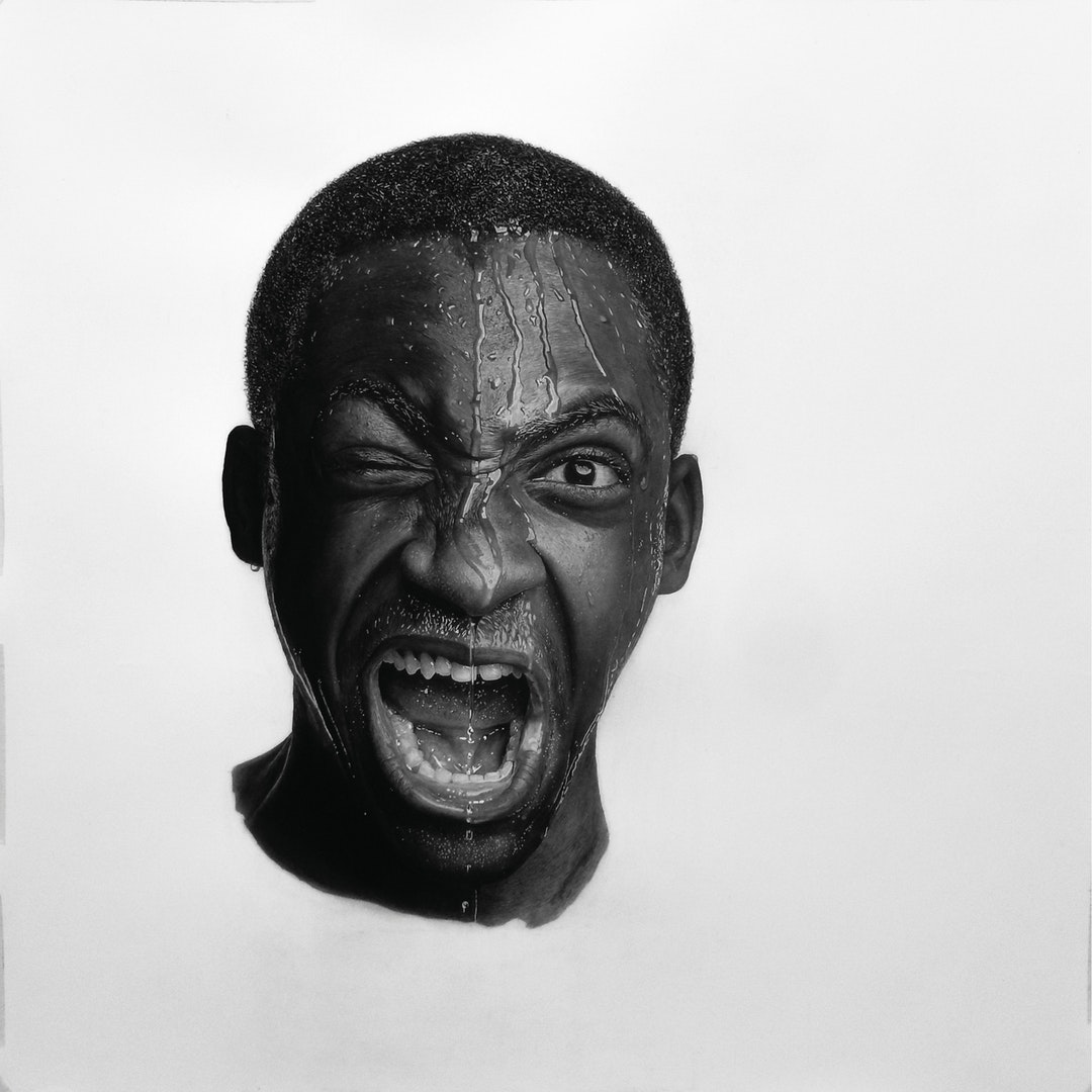 'Inside Out', Emmanuel Kolawole, Graphite and charcoal (pencils and powder) on paper, 76.2 x 76.2 cm