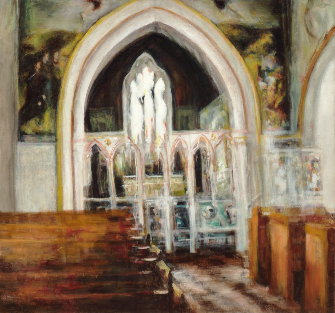 'Chapel', Eri Ishii, Oil on canvas, 81 x 76 cm