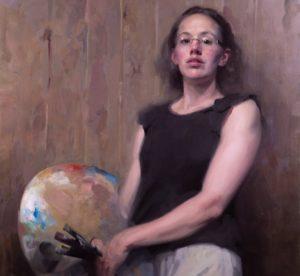 'Self Portrait', Frances Bell, Oil on canvas, 86 x 92 cm