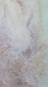 'Flicker', Frances Blythe, Oil on canvas, 73 x 41 cm