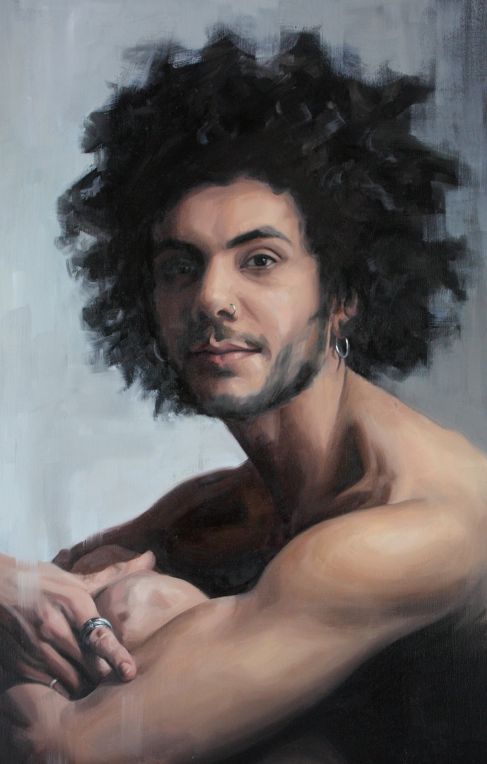 'Lewis', Francesca Currie, Oil on canvas, 72 x 45 cm