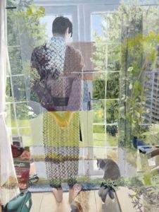 'Chris and Jake', Freya Hoayun, Oil on board, 61 x 46 cm