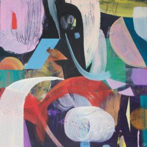 'Deep', Gabriella Buckingham, Acrylic on wooden cradled board, 30 x 30 cm