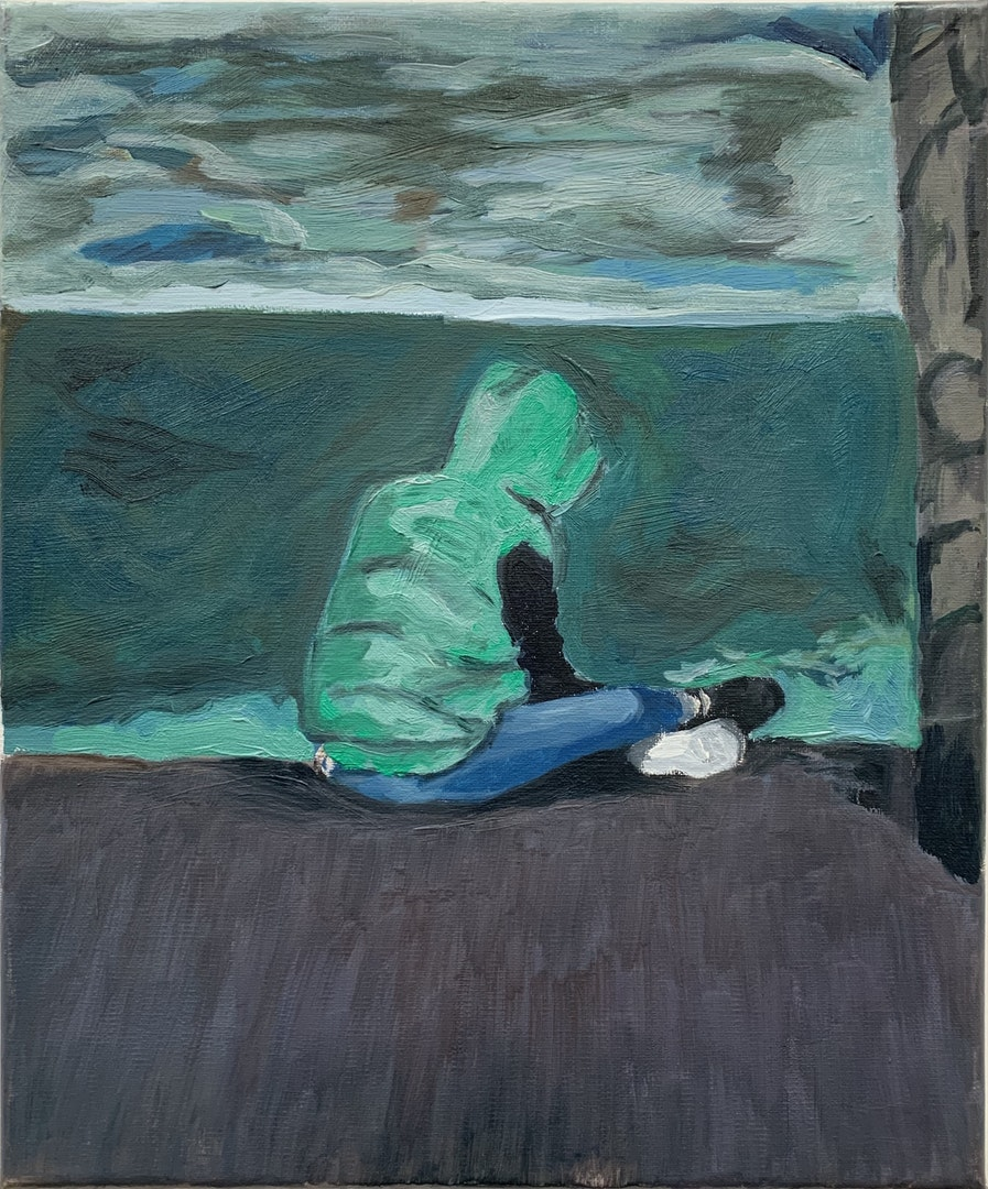 'This Boy (2019)', Gabrielle Eber, Oil on linen, 30.5 x 25.4 cm