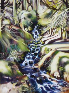 'Waterfall', Georgina Funnell, Oil on canvas, 82 x 64 cm
