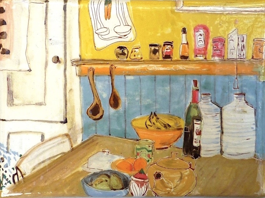 'Edinburgh Kitchen', Henrietta MacPhee, Ceramic tile, 25 x 15 cm