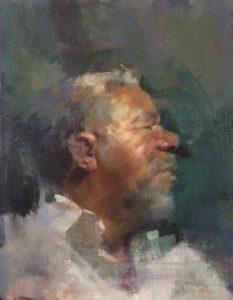 'David', JaFang Lu, Oil on linen, 62 x 46 cm