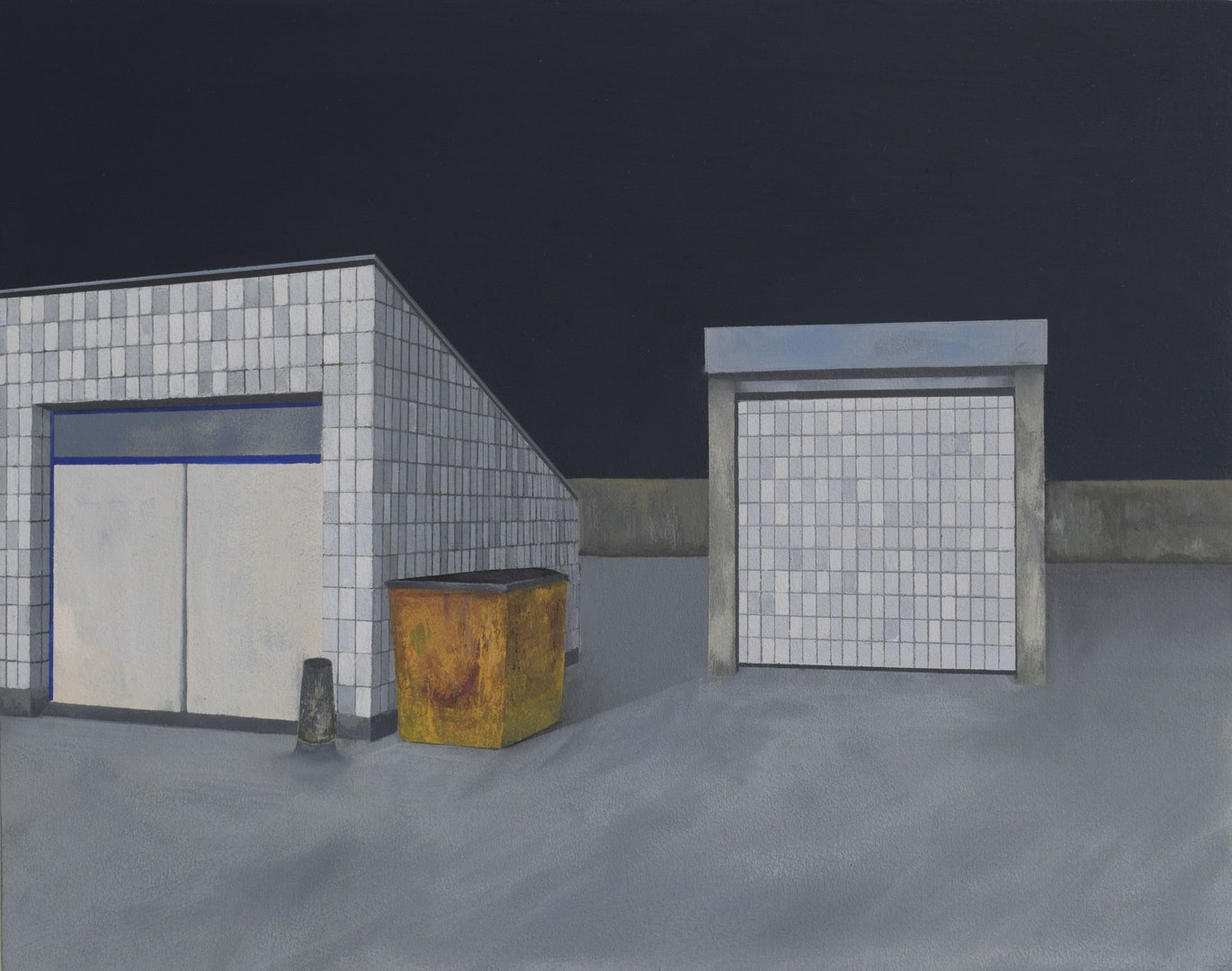 'Rooftop', Jack Candy-Kemp, Gouache on board, 28 x 35.5 cm