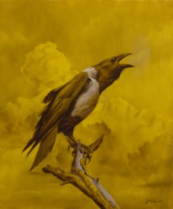 'Crow', Jan Matejak, Oil painting, 50 x 60 cm