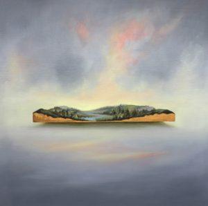 'Precious Lands', Jemma Grundon, Oil on linen, 80 x 80 cm