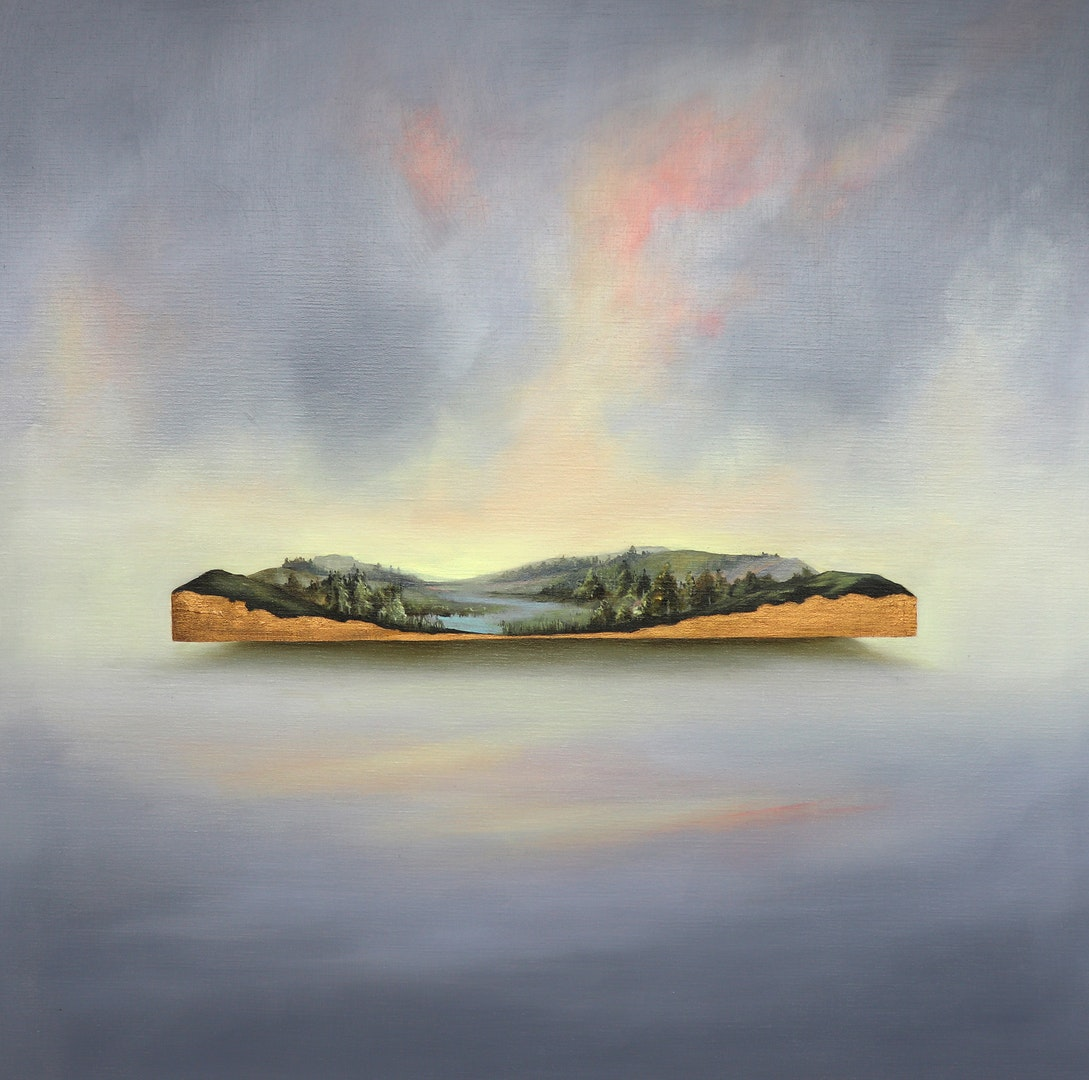 'Precious Lands', Jemma Grundon, Oil on linen, 80 x 80 cm