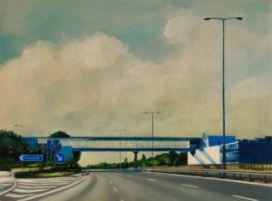 'Still Standing', Jen Orpin, Oil on primed panel, 30 x 40 cm