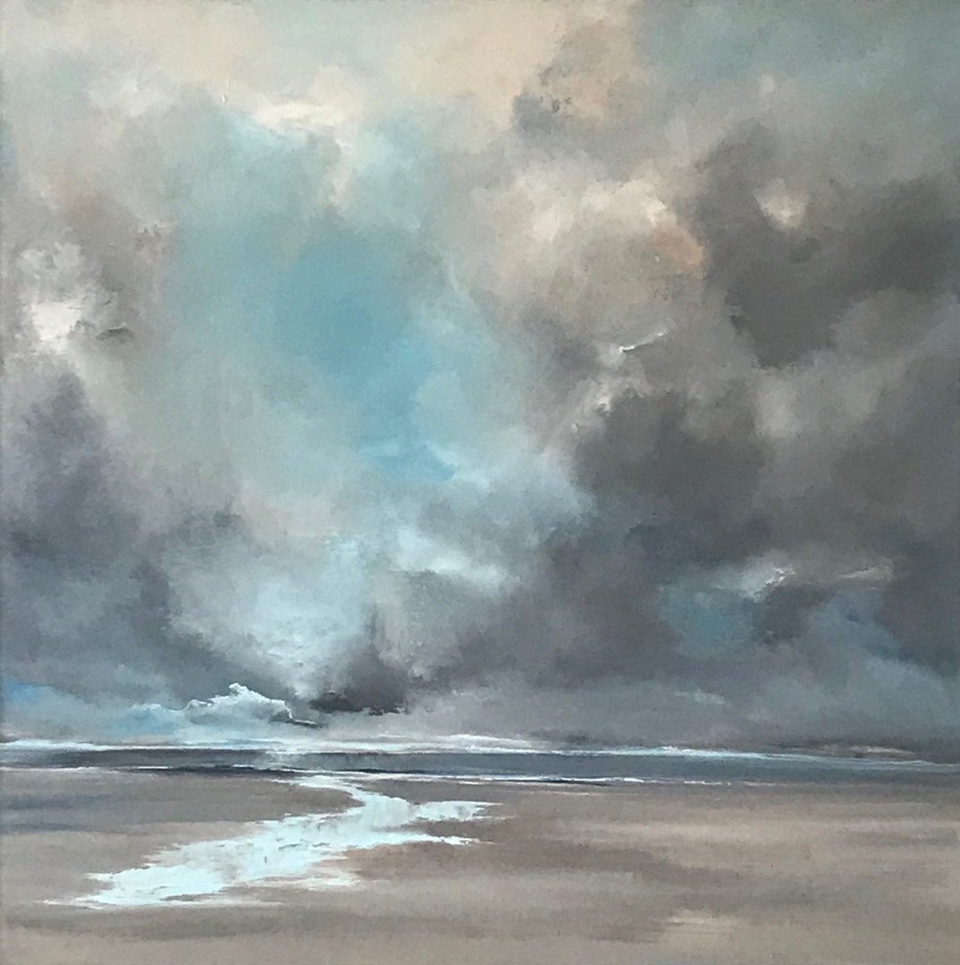 'Quieter Moments (1)', Jo Payne, Acrylic on canvas, 60 x 60 cm