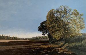 'Autumn Fall', Joseph Harper, Oil on canvas, 95 x 140 cm