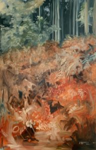 'Autumn Firs & Ferns', Joseph Harper, Oil on canvas, 150 x 100 cm