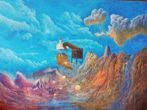 Origin Myth (Uninhabited Landscape)', Joseph Mckenna, Acrylic on canvas, 60 x 90 cm