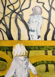 'Labyrinth', Karin Eklund, Oil on wood, 80 x 60 cm