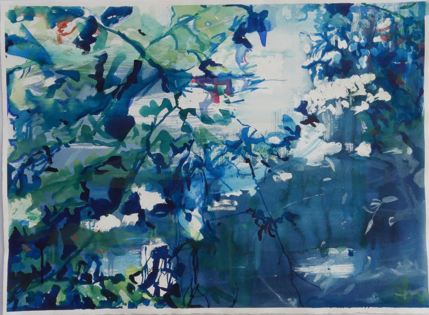 'Traces of the Wild Garden', Katie Lenegan, Watercolour on paper, 71 x 90 cm