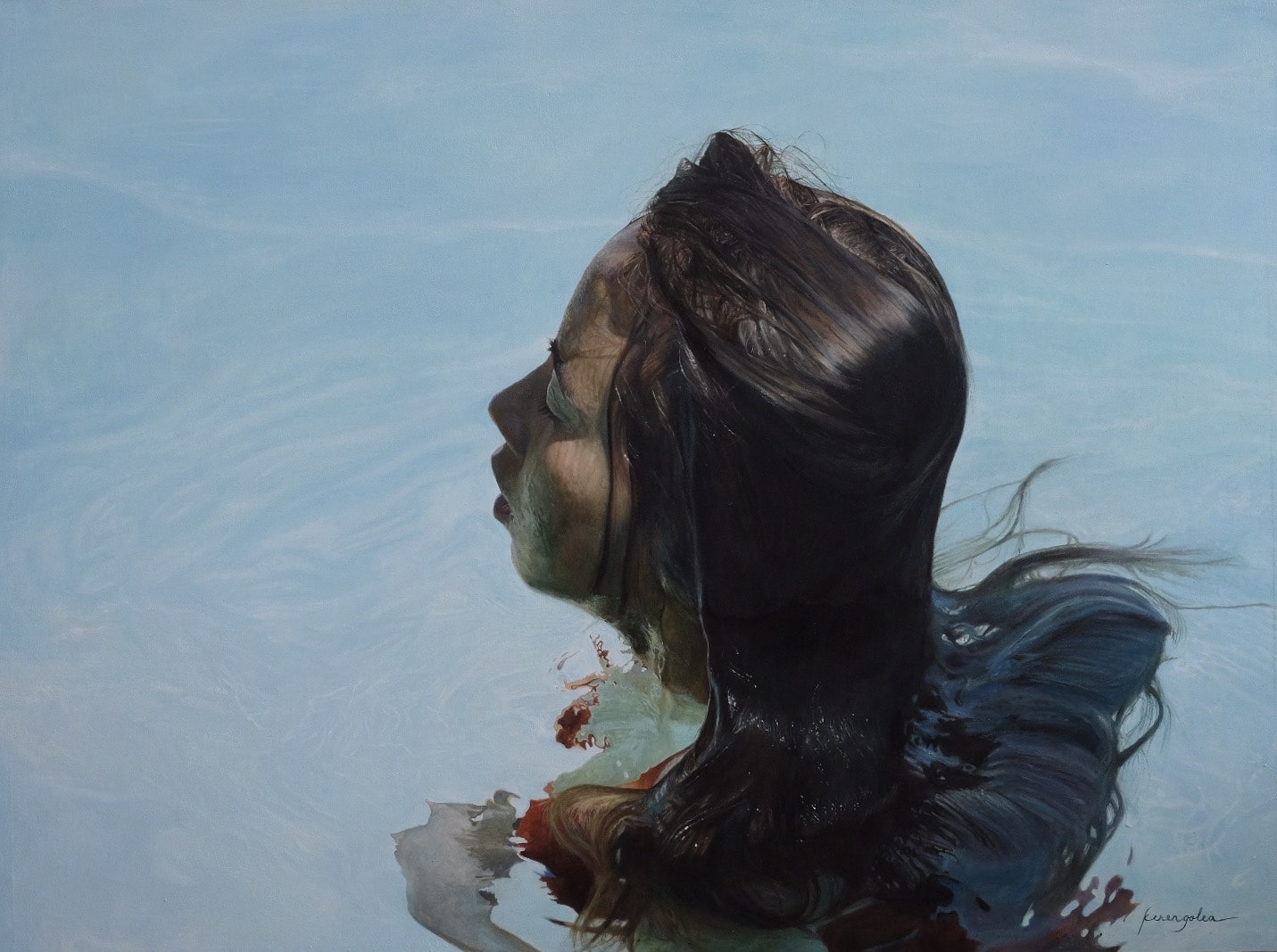 'Emergence', Keren Hannah Golea, Oil on linen, 92 x 122 cm