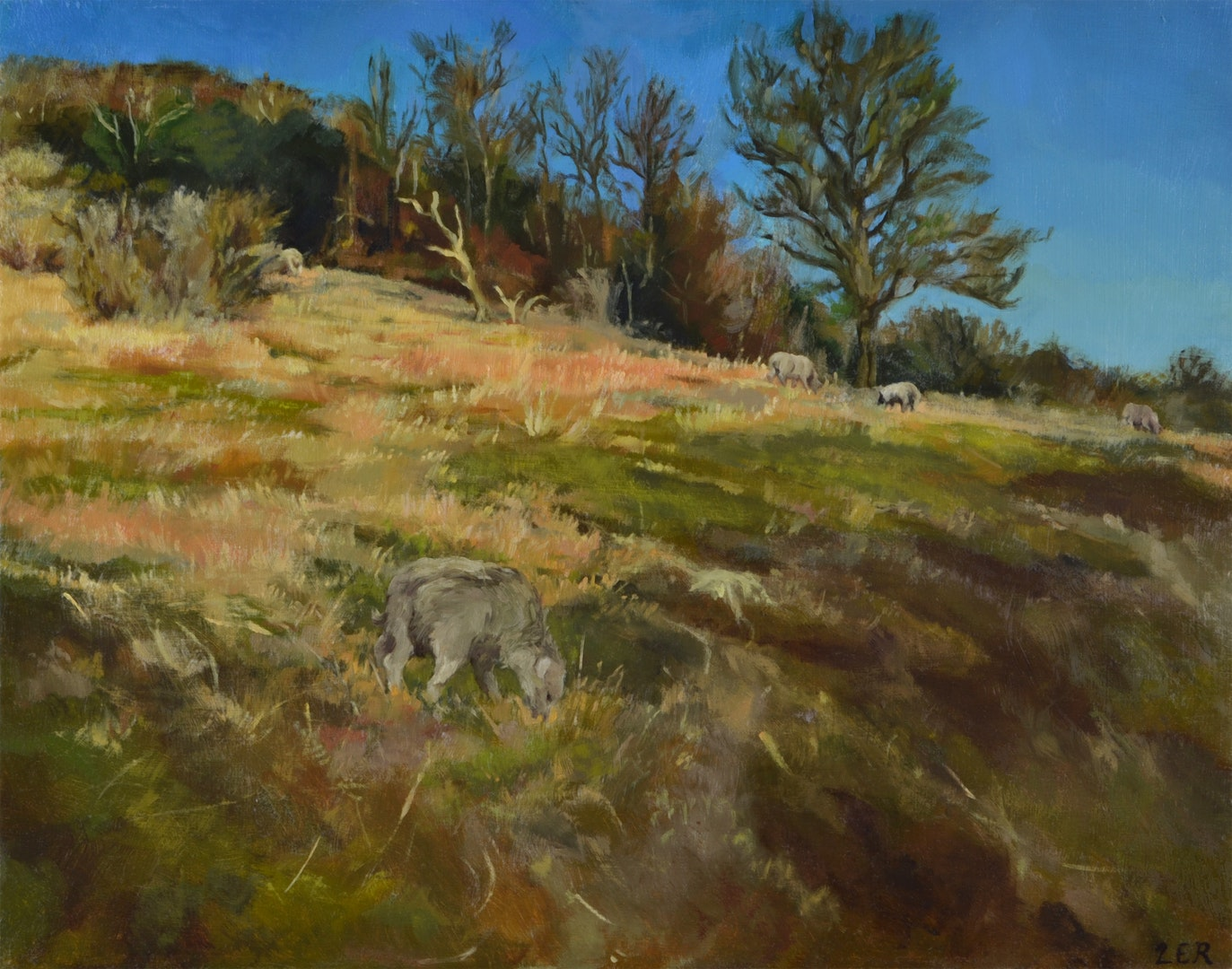 'Moulsecoomb Park', Lancelot Richardson, Oil on board, 50 x 40 cm