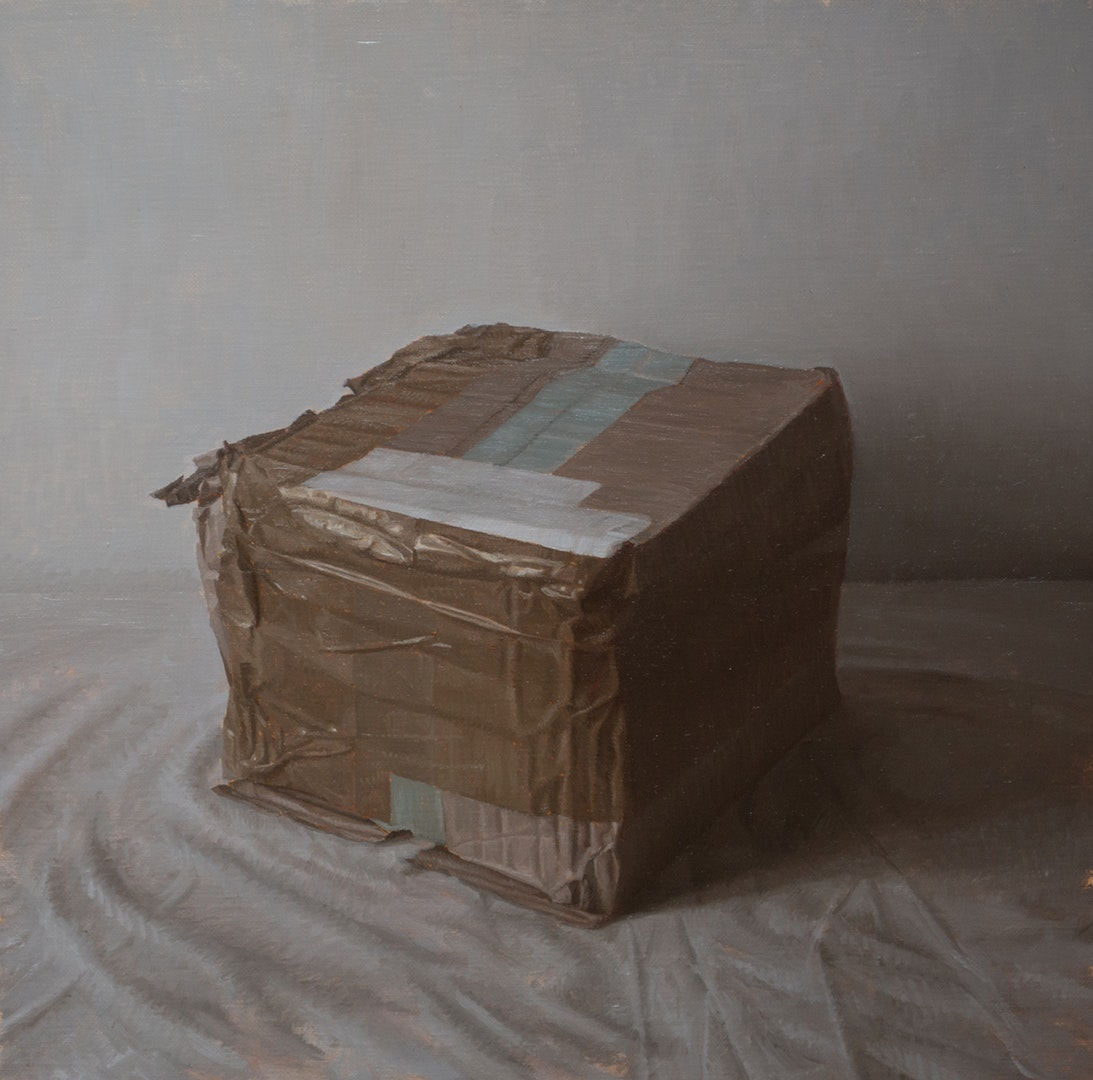'Compartment', Martin Redmond, Oil on linen, 30 x 29 cm
