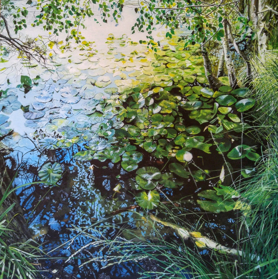 'Witch's Pool - Thursley', Martin Southwood, Acrylic on canvas, 70 x 70 cm