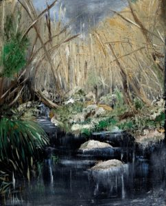 'Ashness Bridge', Maureen Gillespie, Oil on canvas, 30 x 40 cm