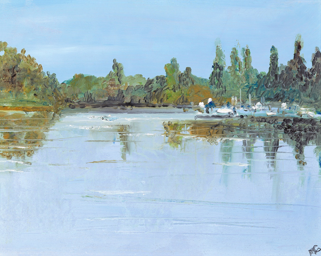 'On The Charente', Maureen Gillespie, Oil, 40 x 30 cm