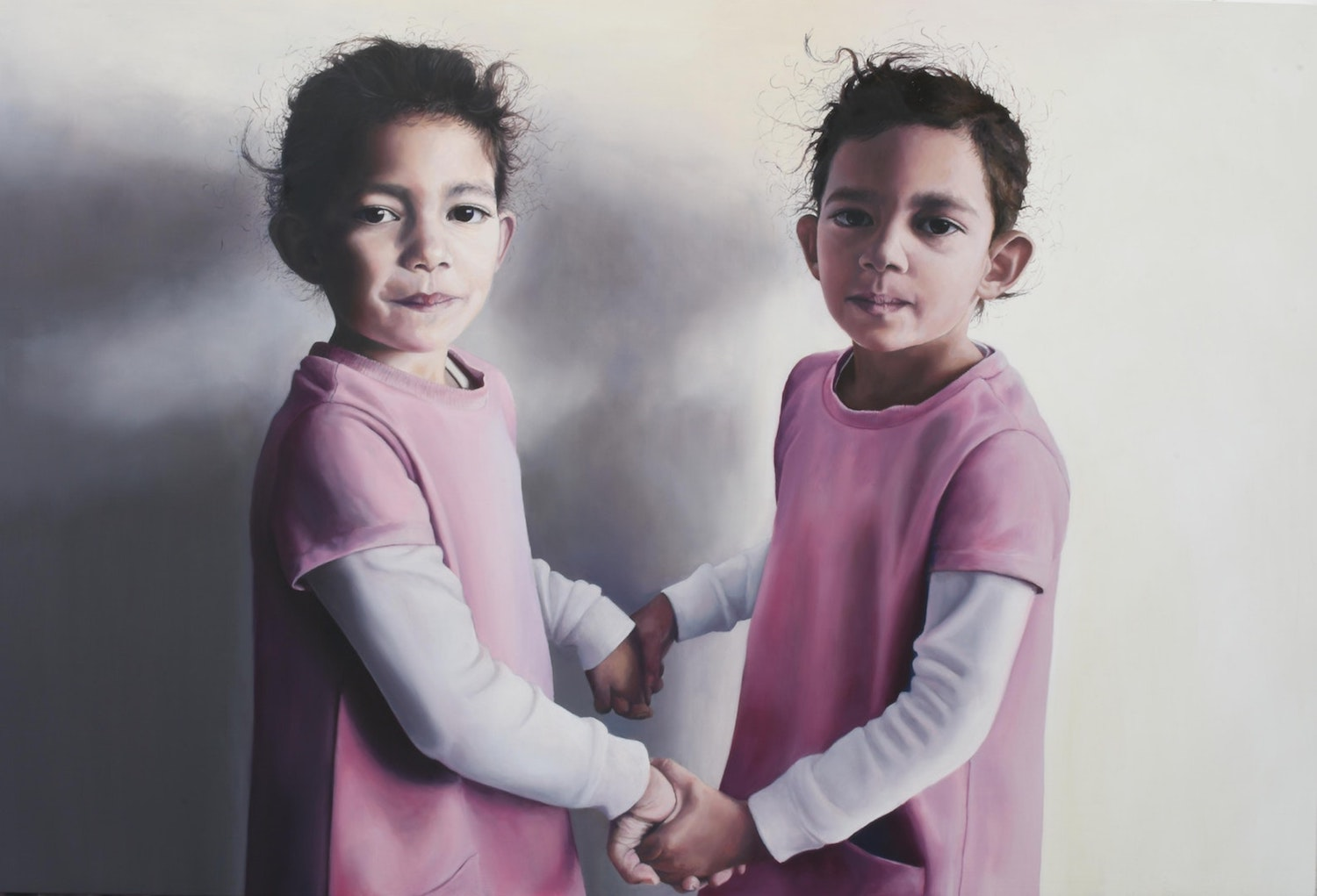 'Indigo and Iylah', Megan Hunter, Oil on panel, 61 x 91 cm