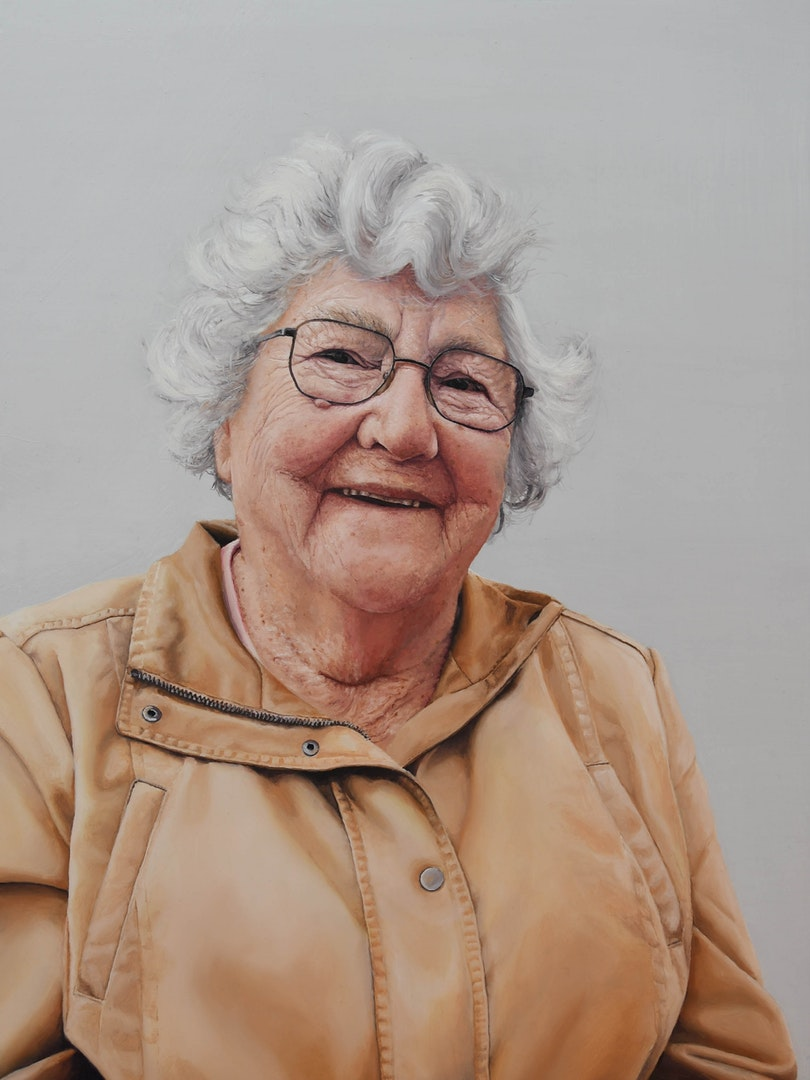 'Nanna Kilby', Megan Hunter, Oil on aluminium, 40 x 30 cm