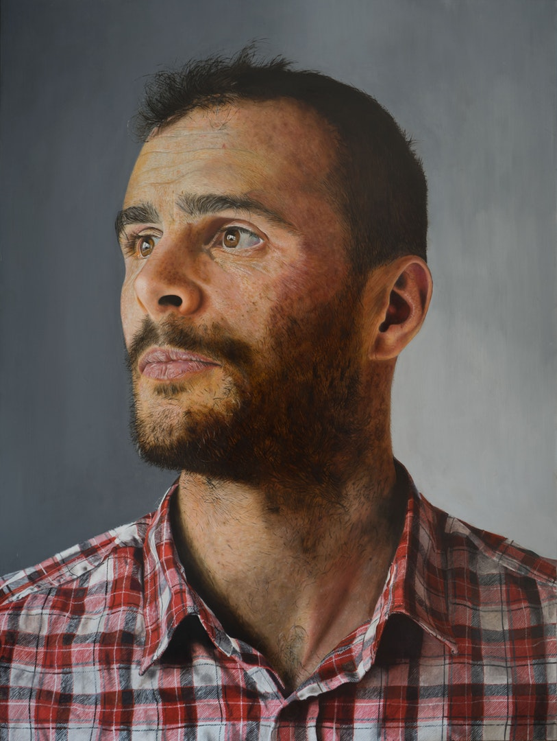 'Edward', Michael Sheldon, Oil on aluminium panel, 80 x 60 cm