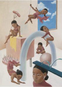 'The Audition', Minjoo Kim, Acrylic on canvas, 140 x 100 cm