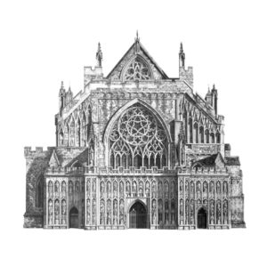 'Exeter Cathedral', Minty Sainsbury, Graphite, 85 x 85 cm