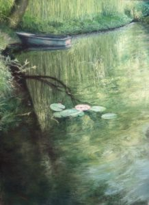 'Deep In The Pond', Musa Musa, Soft pastel on paper, 71 x 50.8 cm