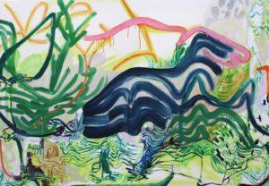 '14 August 2019', Nadja Gabriela Plein, Oil on canvas, 81.5 x 117 cm