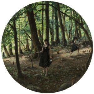 'Rabbit Holes', Nancy Hollinghurst, Oil on linen panel, 76.2 x 76.2 cm