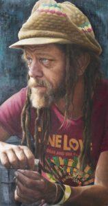 'Neil', Nathalie Scott, Oil on canvas, 39 x 75 cm