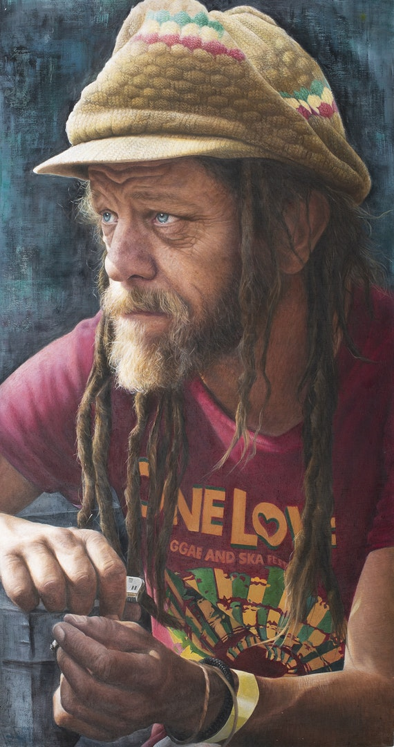 'Neil', Nathalie Scott, Oil on canvas, 39 x 75 cm