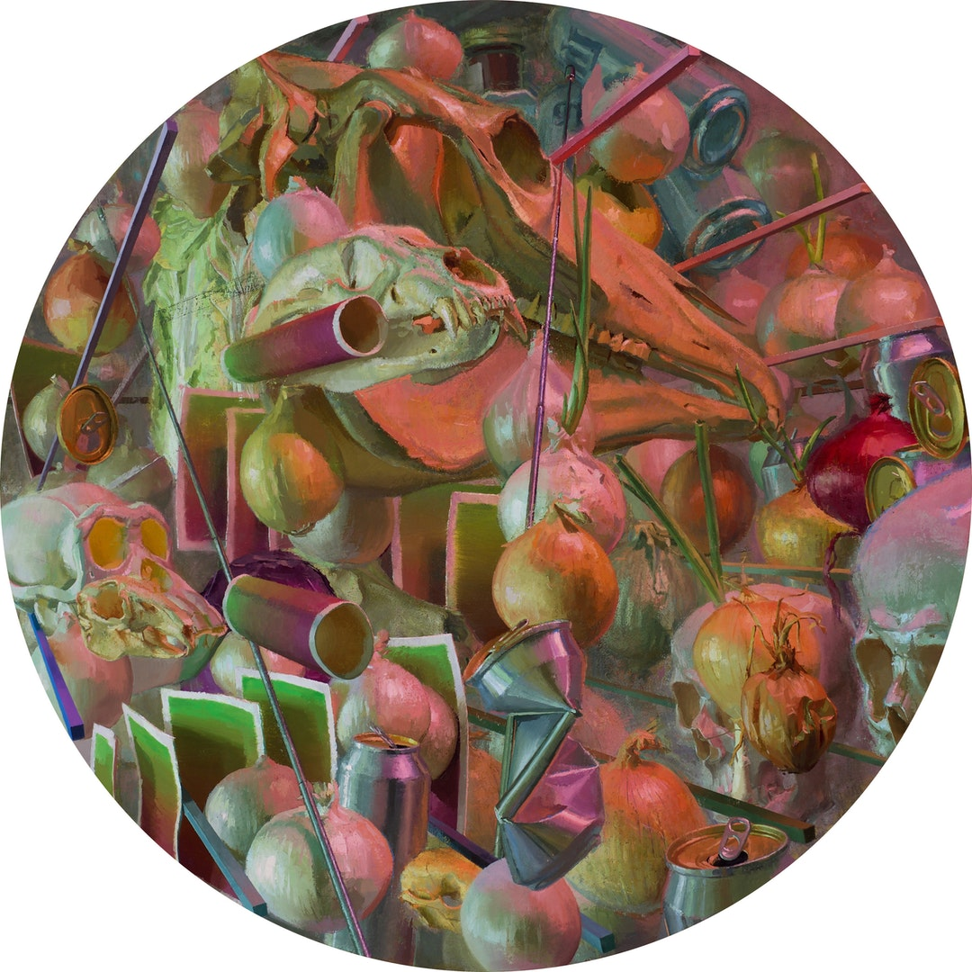 'Healing Grounds', Neil Callander, Oil on muslin on panel, 76 cm (diameter)