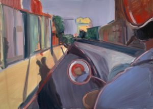 'Holloway Road, Day', Nicole Price, Oil on canvas, 50 x 70 cm