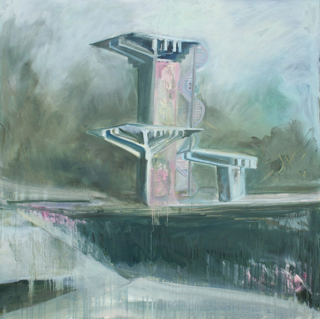 'Jump In the', Niki Campbell, Oil on canvas, 100 x 100 cm