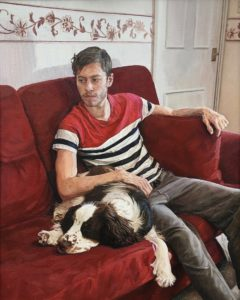 'The Painter's Dog Resting', Owain Hunt, Oil on canvas, 80 x 60 cm