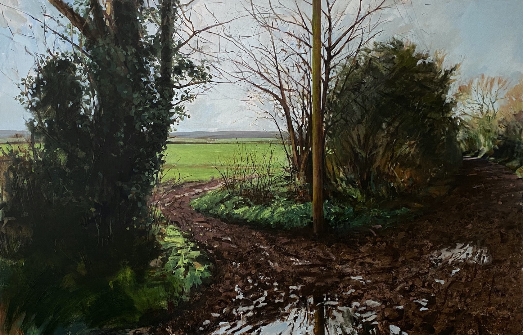 'Bridgefoot Lane X', Paul Regan, Acrylic on canvas, 90 x 140 cm