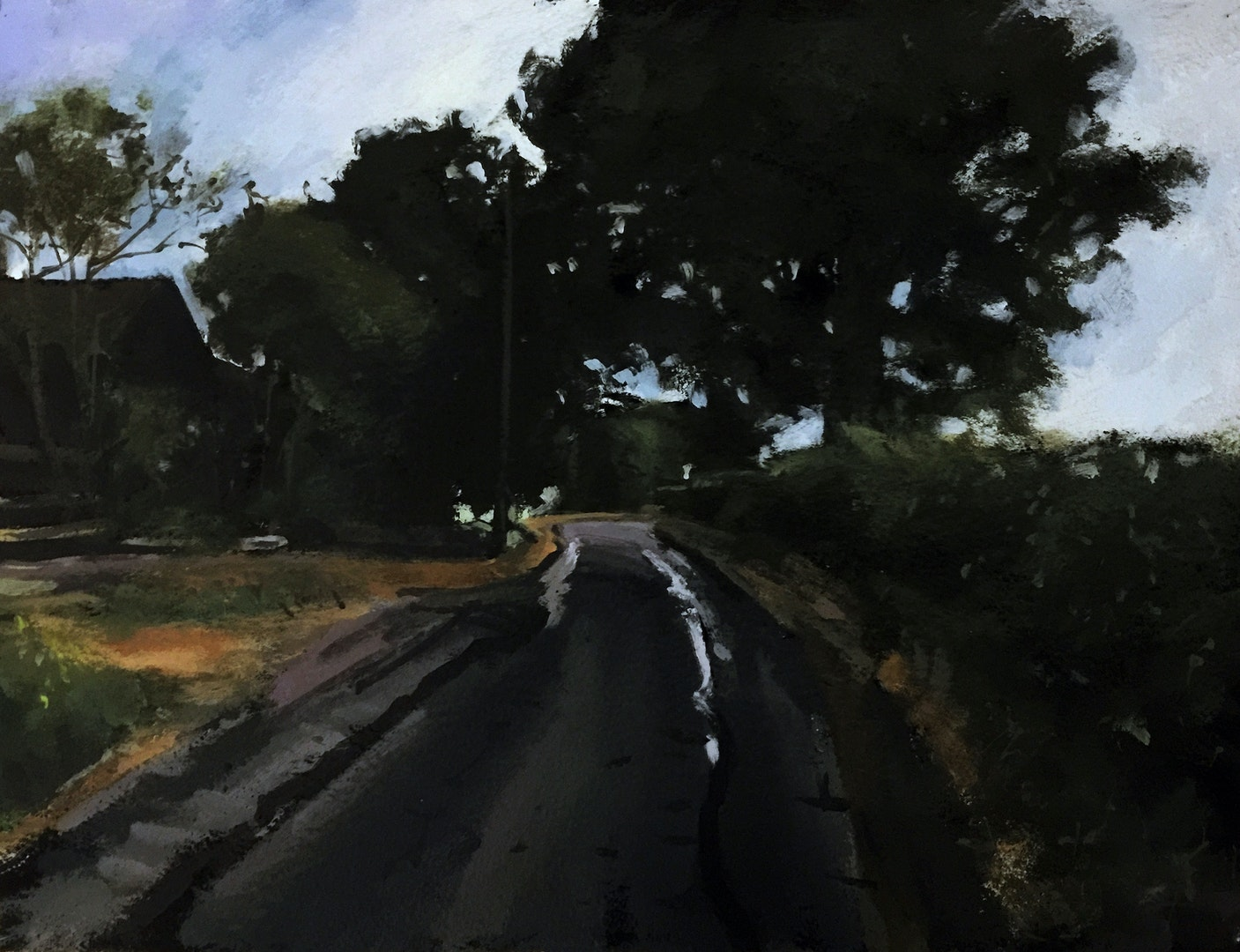 'Rowley Lane IV', Paul Regan, Acrylic on paper, 28 x 38 cm