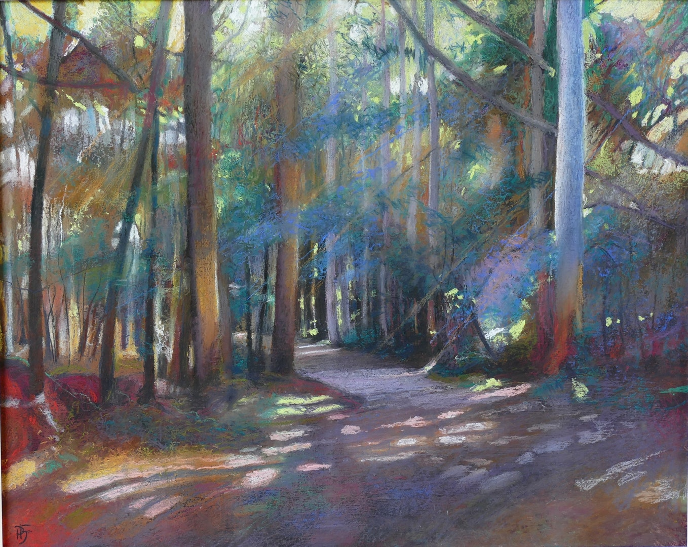'Santiago Eucalyptus Forests', Penelope Fulljames, Pastel on panel, 40 x 50 cm