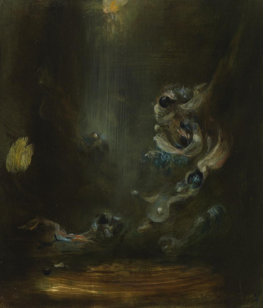 'Elver', Pippa Gatty, Oil on linen/ply, 30 x 26 cm